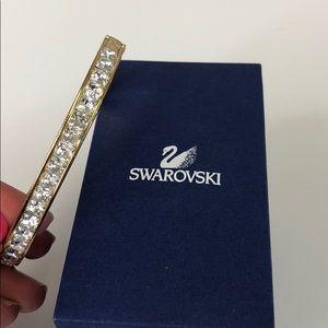 Swarovski Crystal Gold Hinge Bracelet in Box